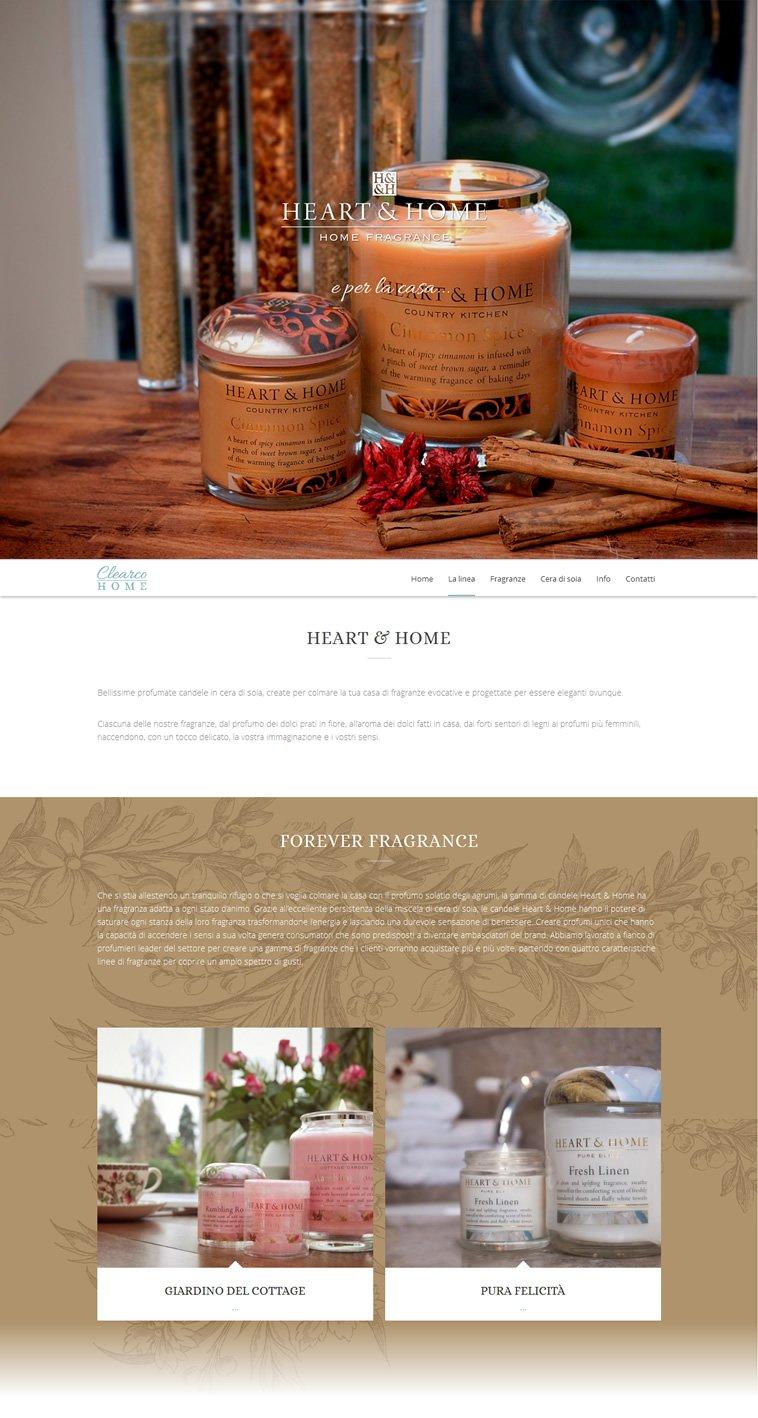 Heart Home Candele.Realizzazione Sito One Page Heart Home Asturi It