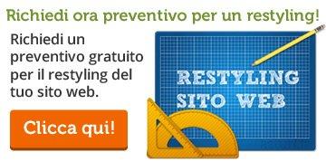 Richiedi preventivo restyling sito