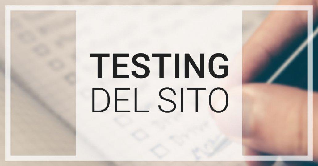 testing sito web